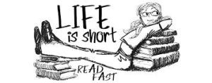 life is short read fast image